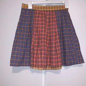 Multicolored Plaid Skirt